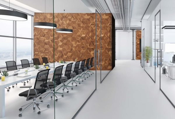 Inside a large office space, contemporary office interiors, Styleline Interiors, Salmon Arm BC